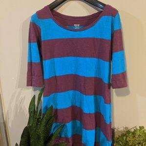 *free add on**  Striped Chunky T-Shirt Dress
